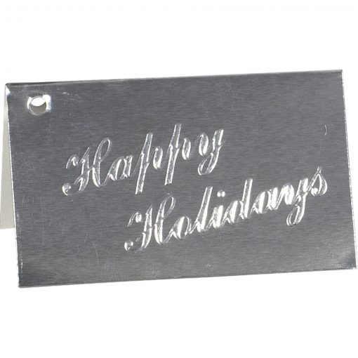 Happy Holidays Embossed Gift Card