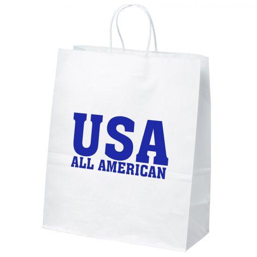Citation White Shopper Bag (Brilliance- Matte Finish)