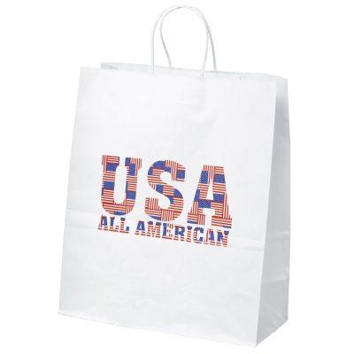 Citation White Shopper Bag (Brilliance- Special Finish)