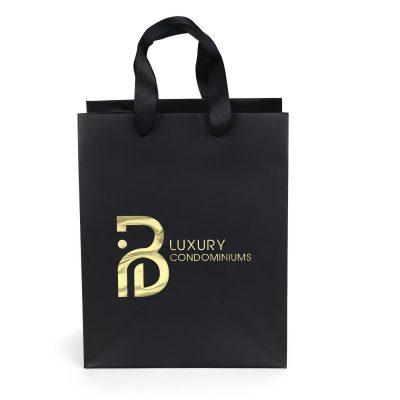 Elizabeth™ Ribbon Handle Matte Eurotote Bag